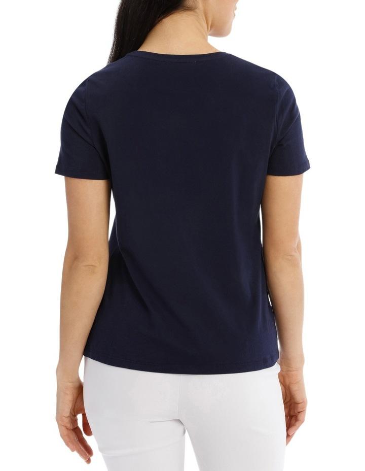 Essential Short Sleeve Tee Solid Navy image 3