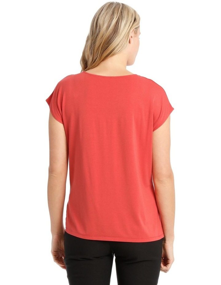 Short Sleeve Bruised Poly Front Tee image 3