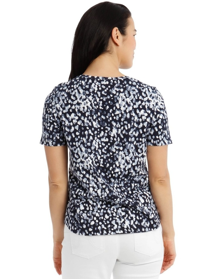 Short Sleeve Printed T-Shirt - Blue Brushstroke image 3