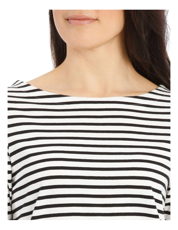 Boat Neck Stripe Short Sleeve Tee image 4