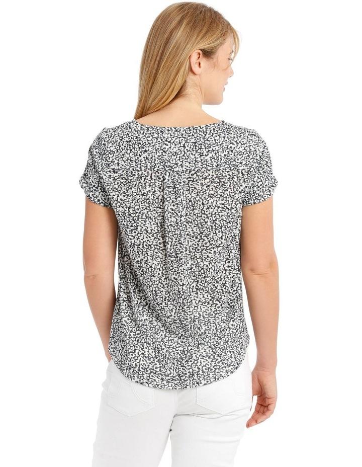 Short Sleeve Burnout T-Shirt with Scooped Hem image 3