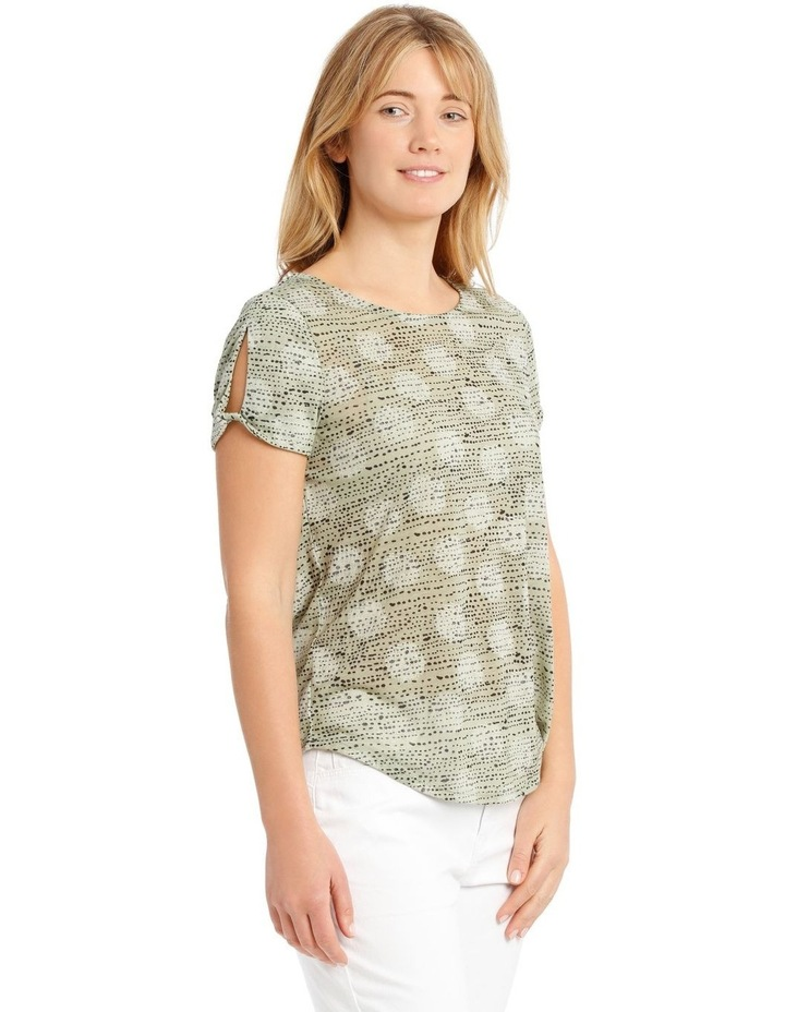 Short Sleeve Burnout T-Shirt with Scooped Hem image 2