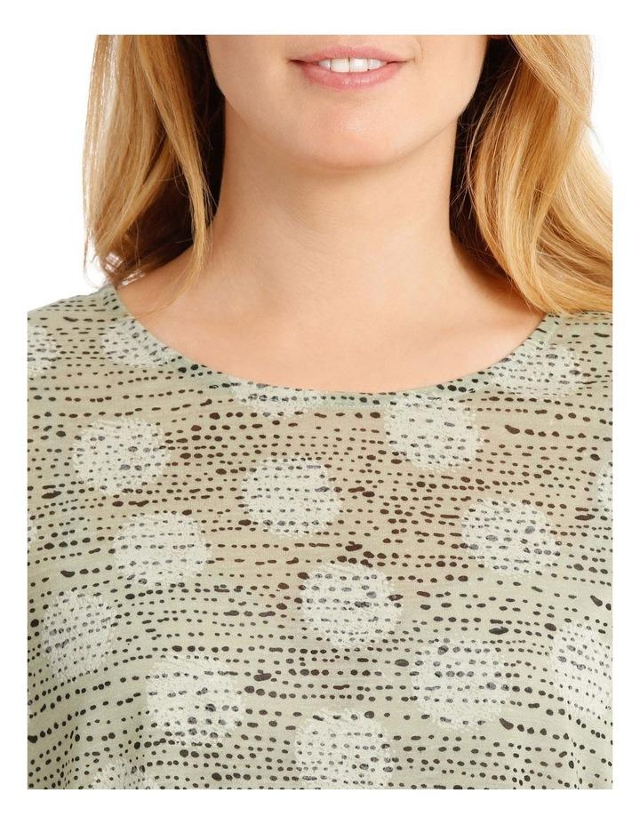 Short Sleeve Burnout T-Shirt with Scooped Hem image 4