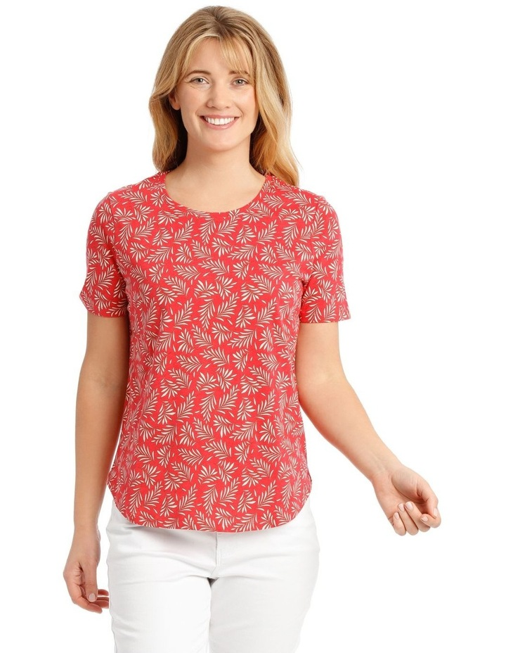 Short Sleeved Core T-Shirt - Coral Fern Print image 1