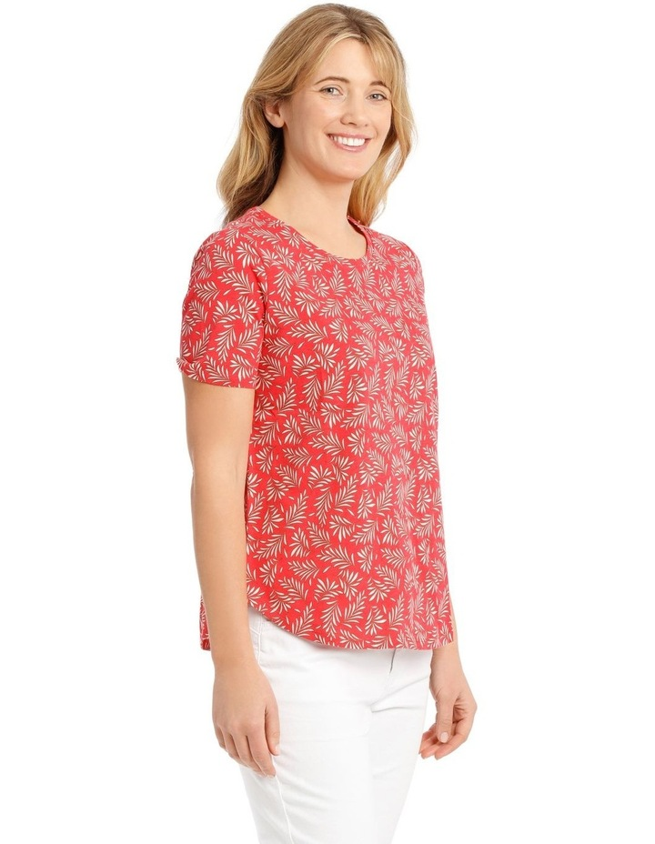 Short Sleeved Core T-Shirt - Coral Fern Print image 2