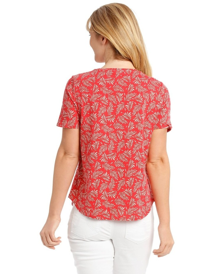 Short Sleeved Core T-Shirt - Coral Fern Print image 3