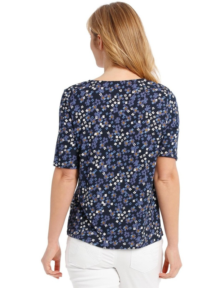 Short Sleeve V-Neck Tee With Ladder Lace Insert image 3