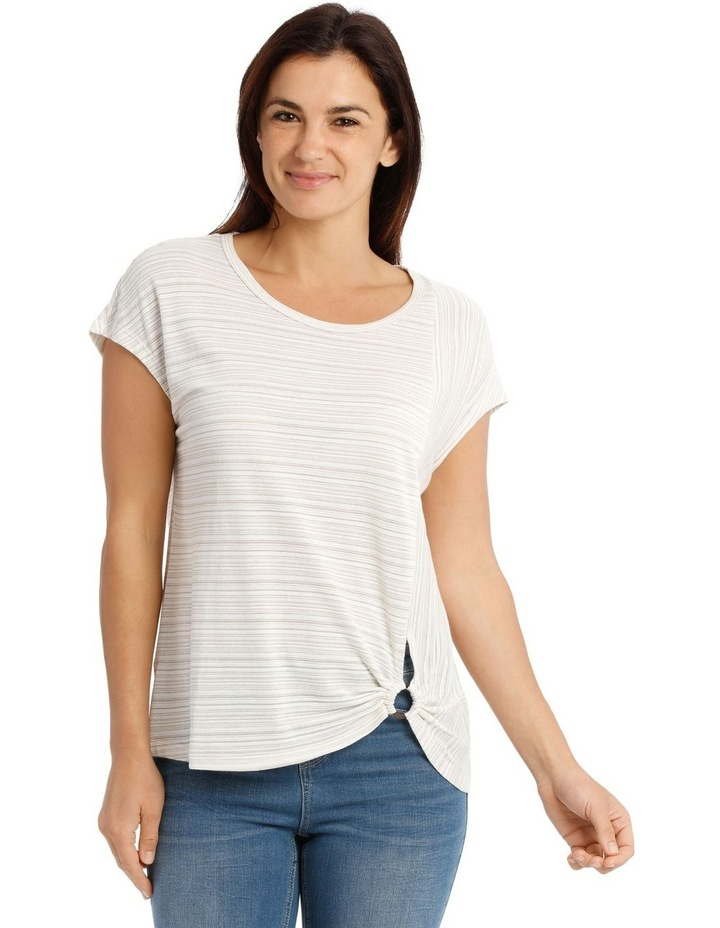 Extended Sleeve Gathered Ring Tee image 1