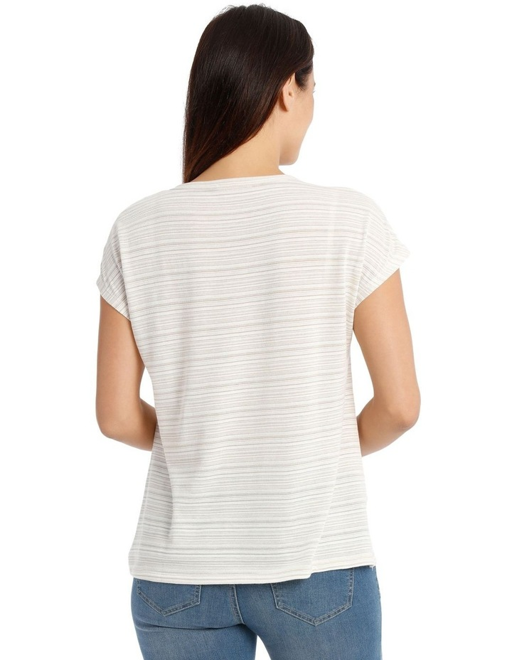 Extended Sleeve Gathered Ring Tee image 3