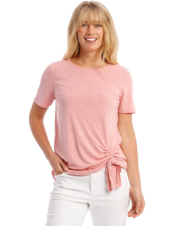 Short-Sleeve T-Shirt with Ruched Detail image 1