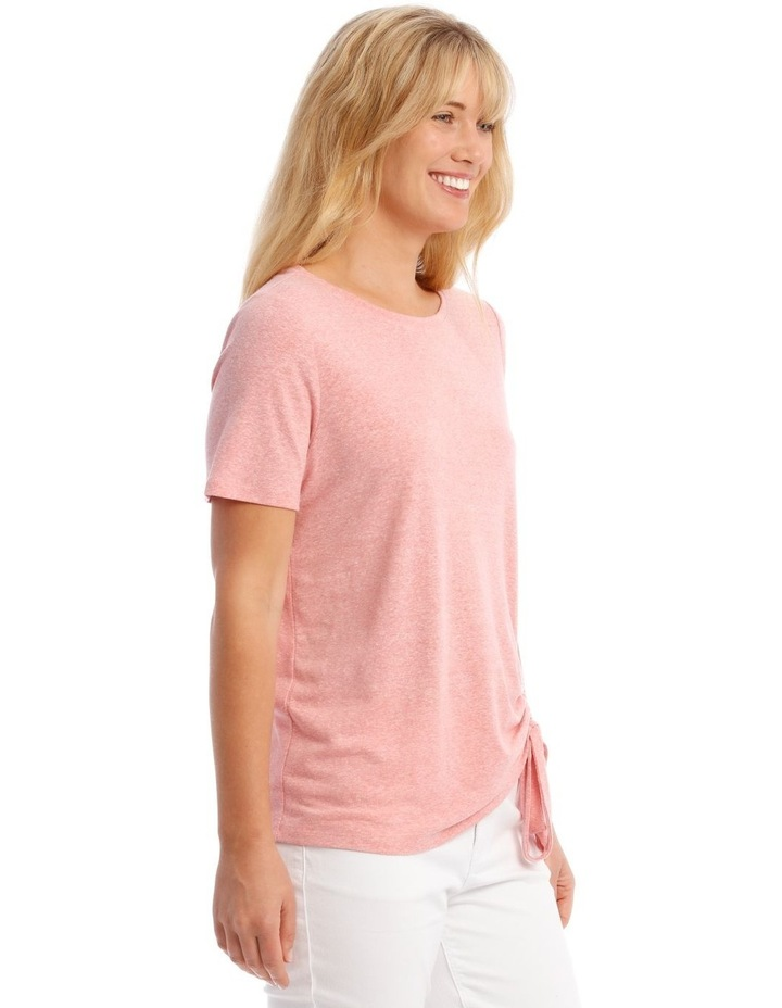 Short-Sleeve T-Shirt with Ruched Detail image 2