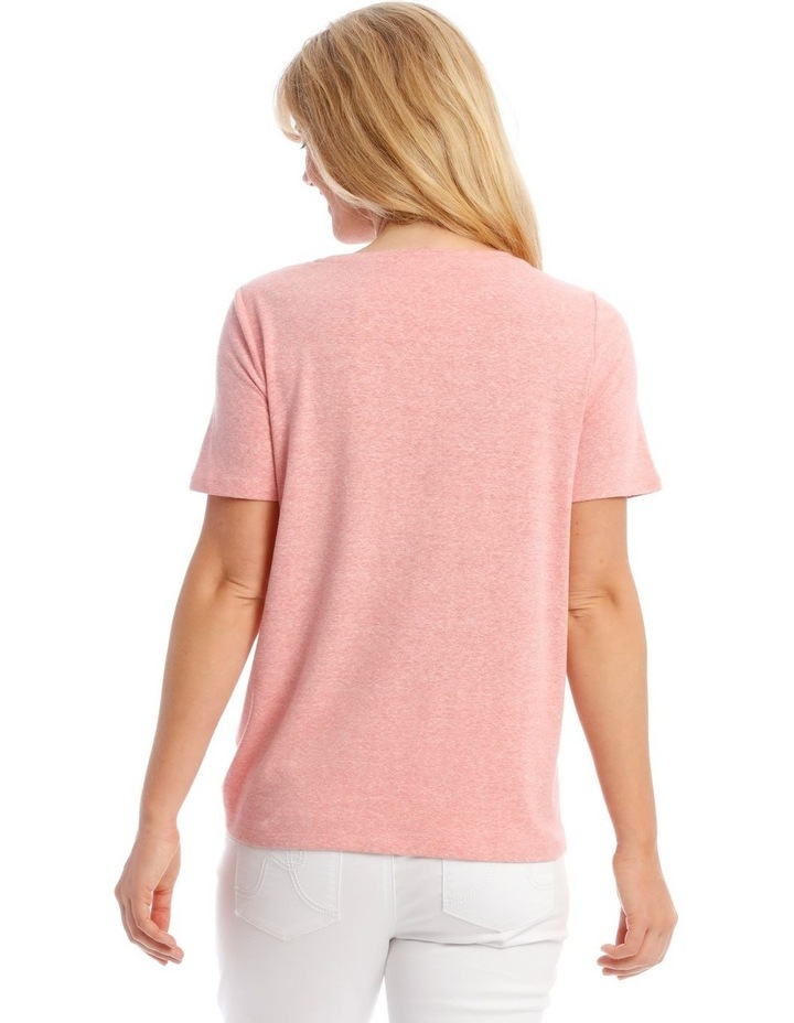 Short-Sleeve T-Shirt with Ruched Detail image 3