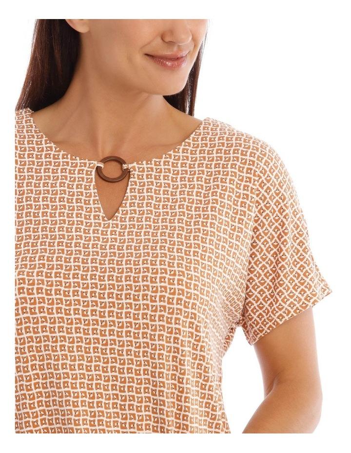 Short Sleeves Split Neck Ring Tee image 4