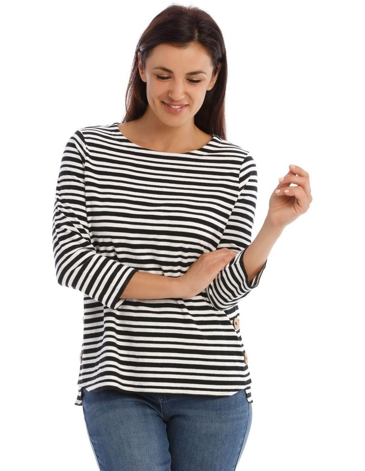 3/4 Sleeve Button Side Tee image 1