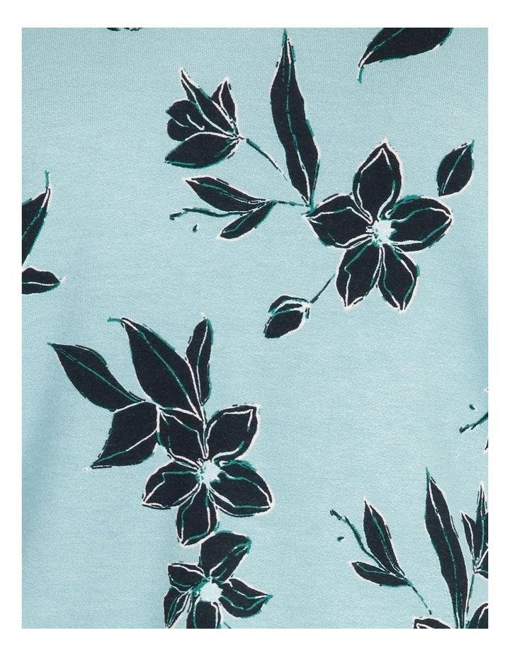 Mottled Marble High V Neck Long Sleeve Tee image 5