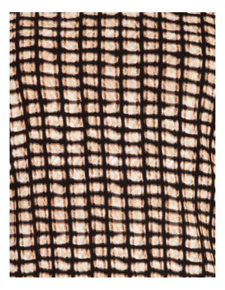 Burnished High V Neck Long Sleeve Tee image 5