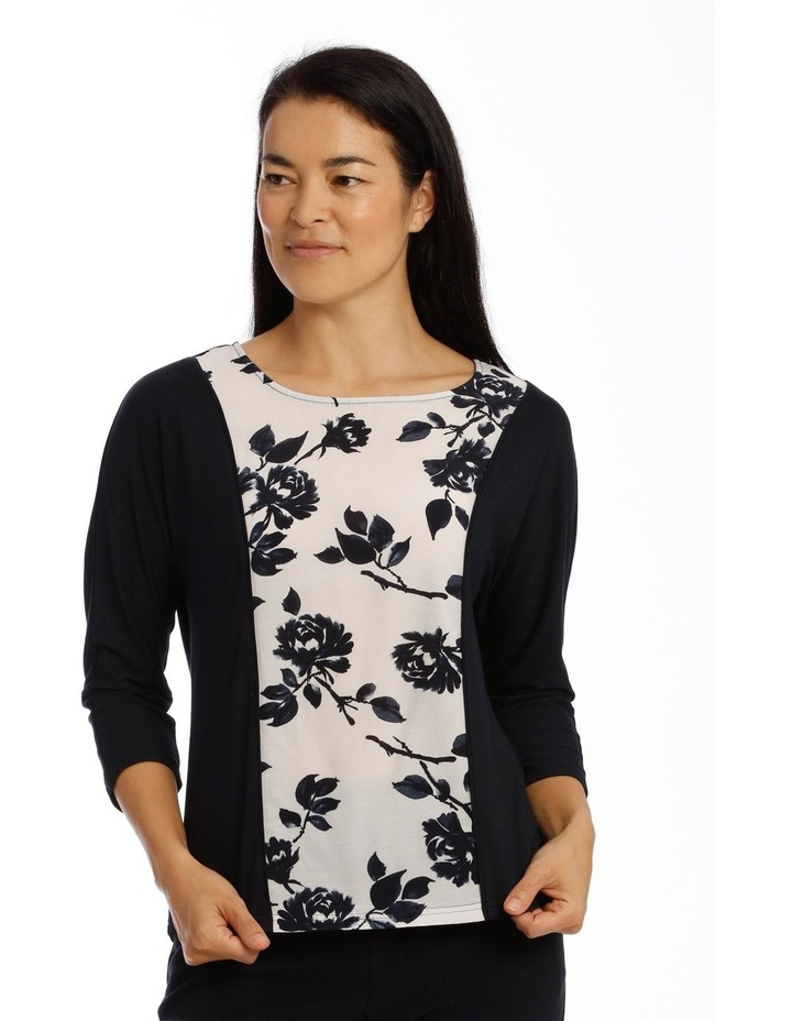 Still Life Magyar Sleeve Tee With Woven Front Insert image 1