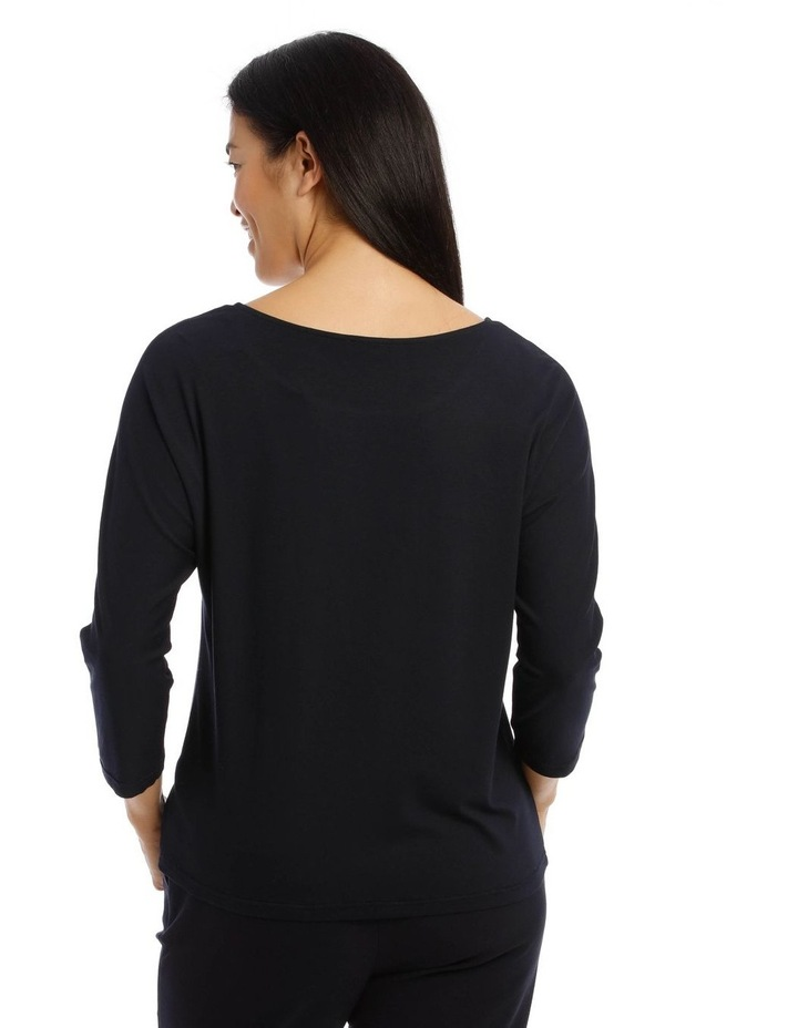 Still Life Magyar Sleeve Tee With Woven Front Insert image 3