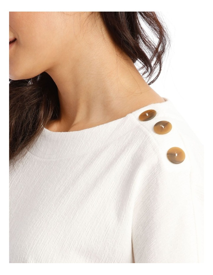 Extended Short Sleeves Tee With Button Shoulder image 4