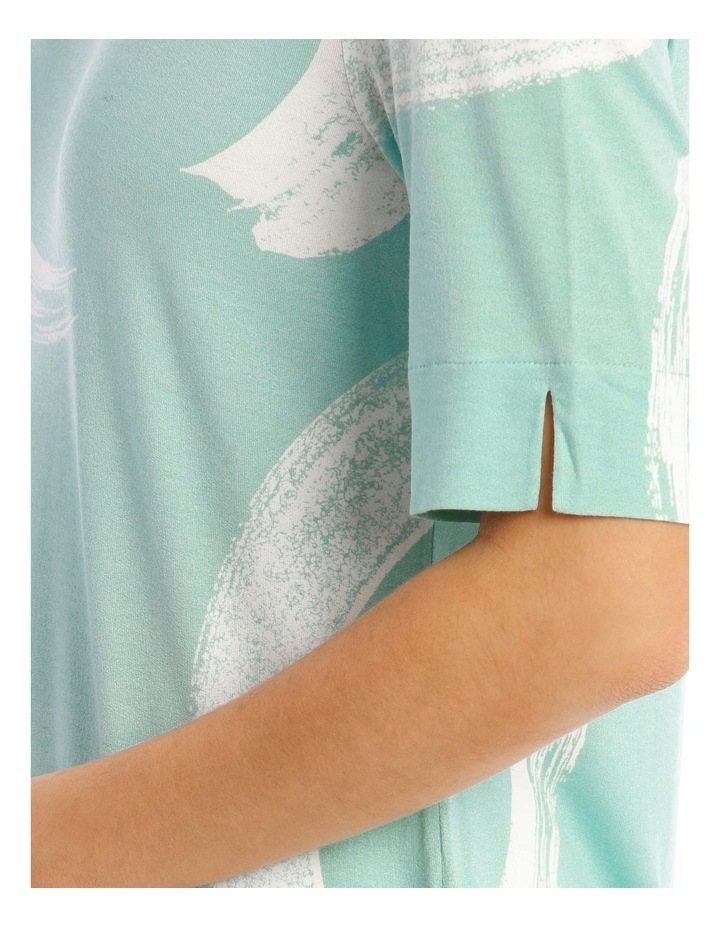 Short Sleeve Tee With Sleeve And Hem Splits image 3
