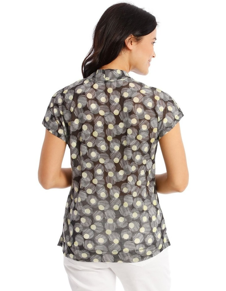 Extended Short Sleeve High Neck Burnout Tee image 3