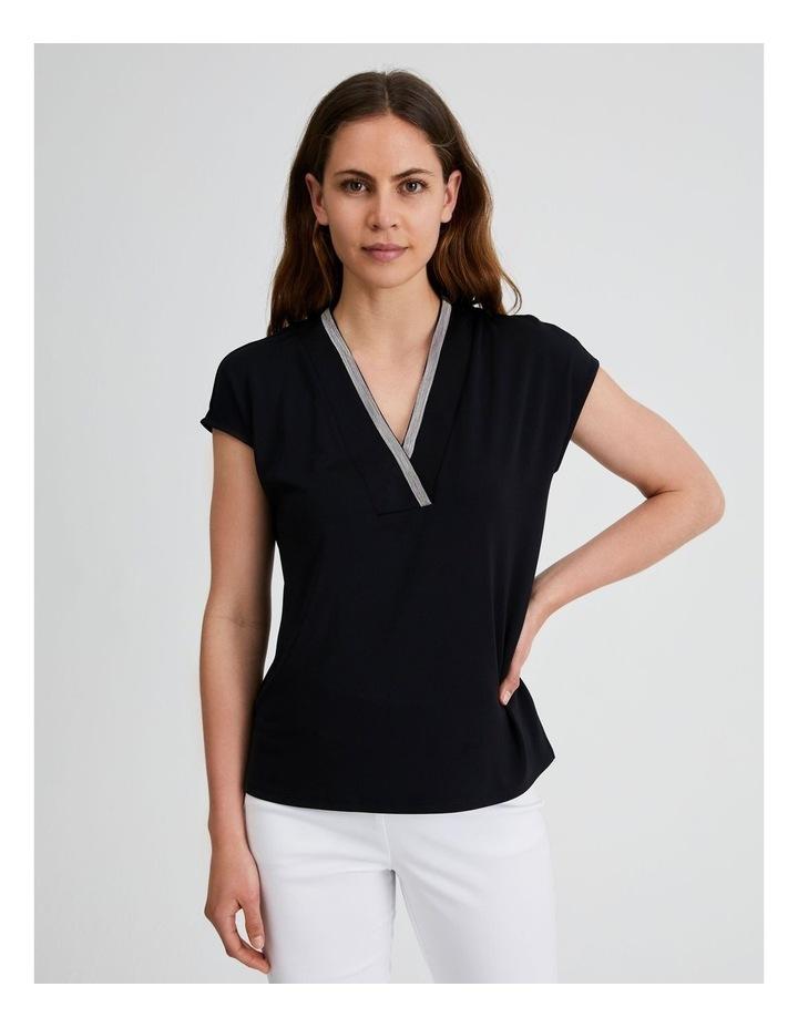Extended Sleeve V Neck Tee image 1