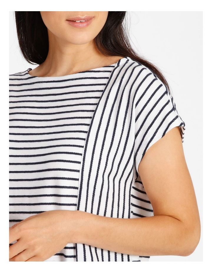 Short Sleeve Tee With Horizontal With Vertical Stripes & Tie image 4