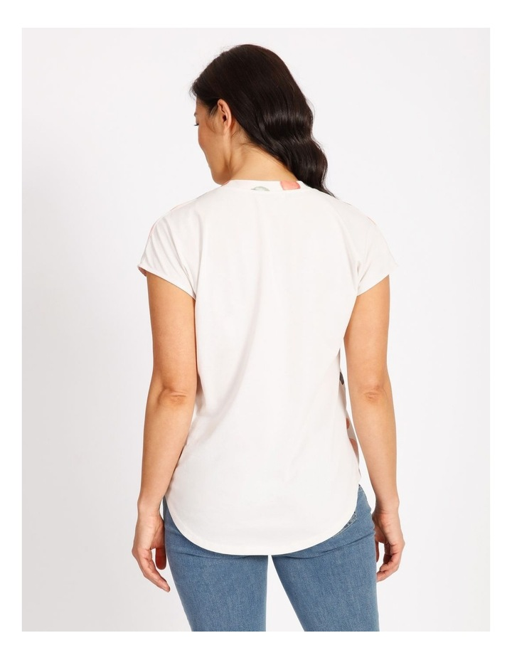 Woven Front - Knit Back V-Neck Tee image 3