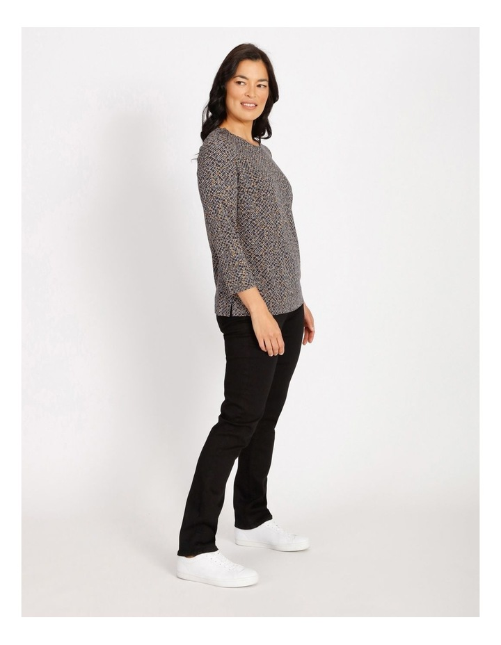 Ochre Dawn Button Shoulder Tee With 3/4 Length Sleeve image 2