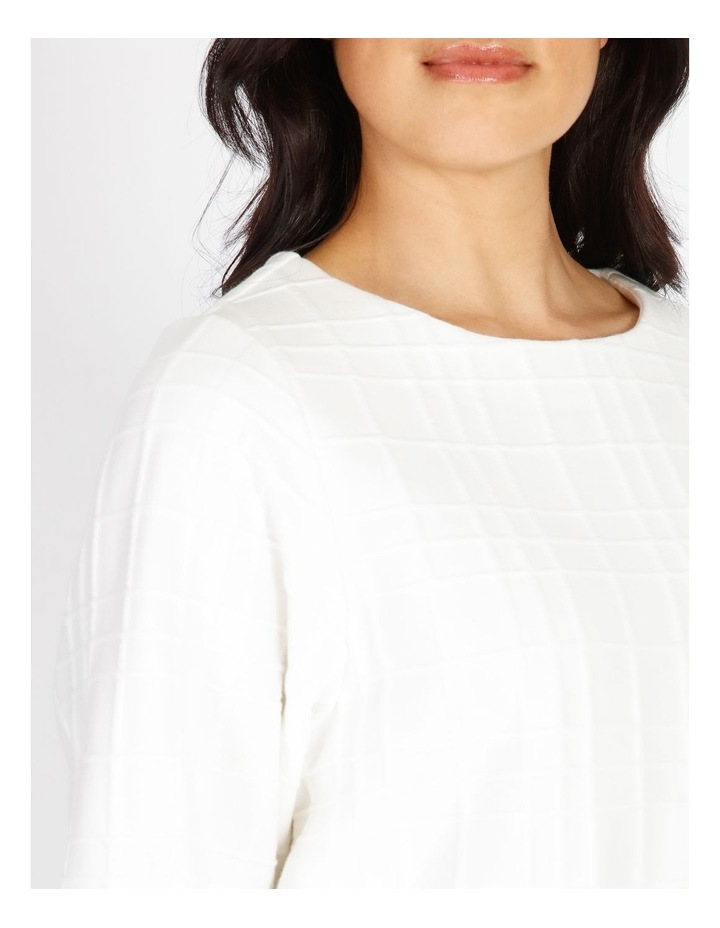 Burnished 3/4 Sleeve Textured Tee With Tucked Cuffs image 4