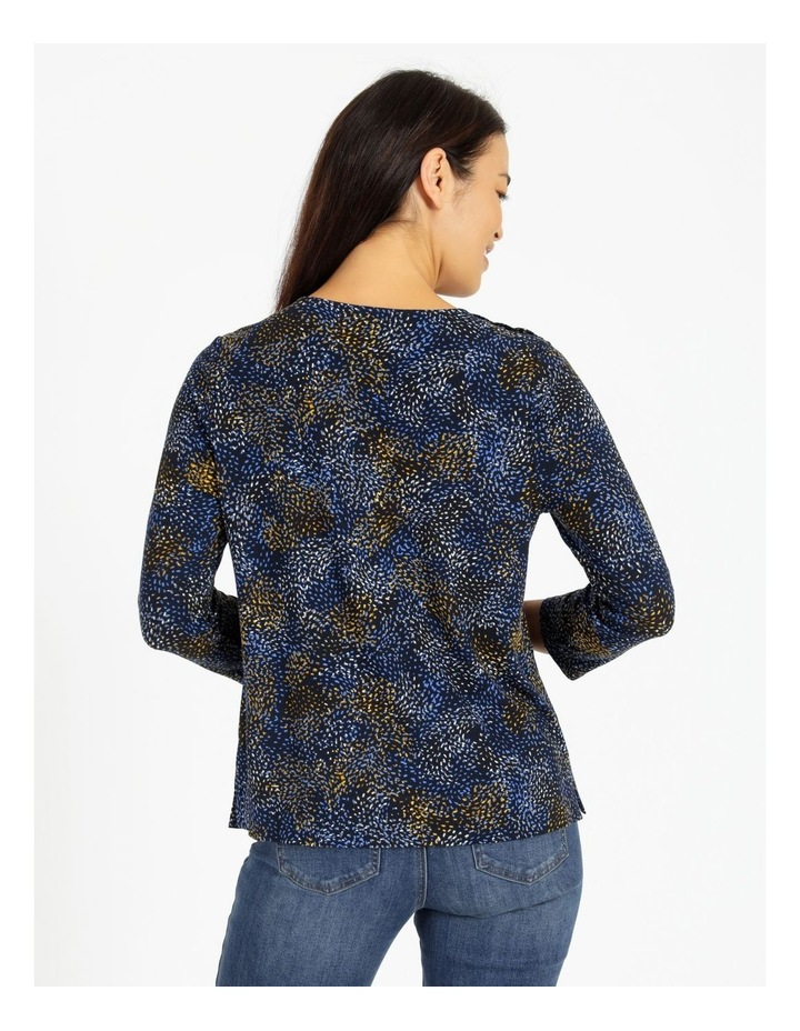 Button Shoulder Tee With 3/4 Length Sleeve image 3