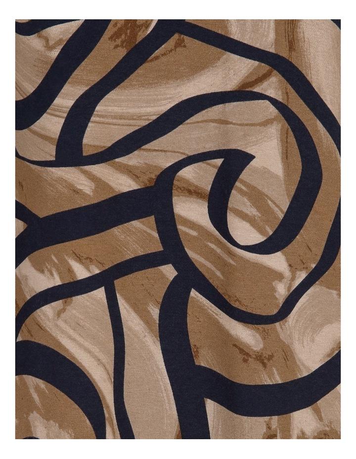 Curved Hem 3/4 Sleeve Swing Tee image 5