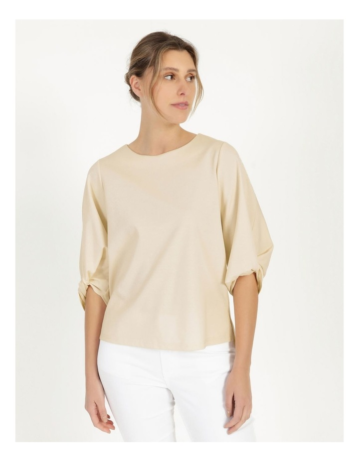 Tucked Sleeve Tee Ivory image 3