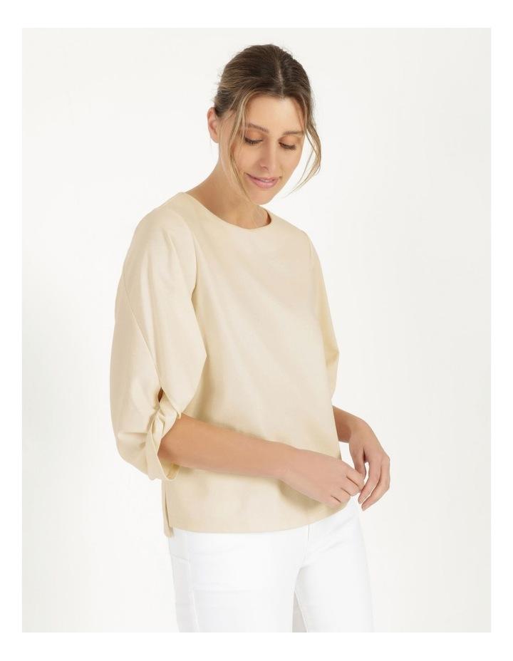 Tucked Sleeve Tee Ivory image 4