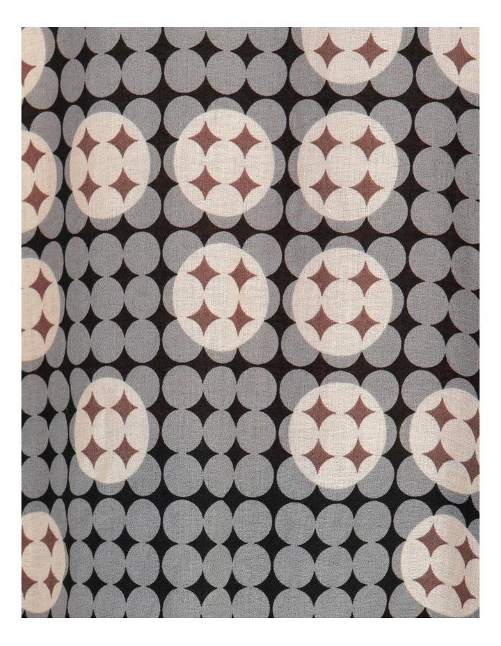 Tucked Sleeve Raglan Tee Grey Abstract Print image 7
