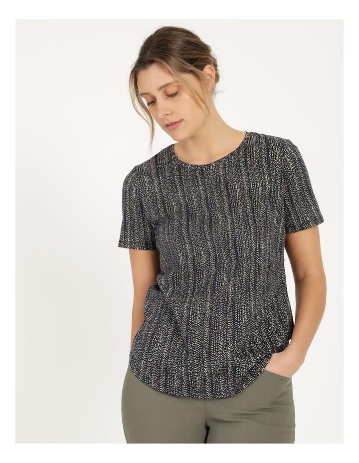 Wardrobe Staple Short Sleeve Tee Navy/Small Multi Spot image 1