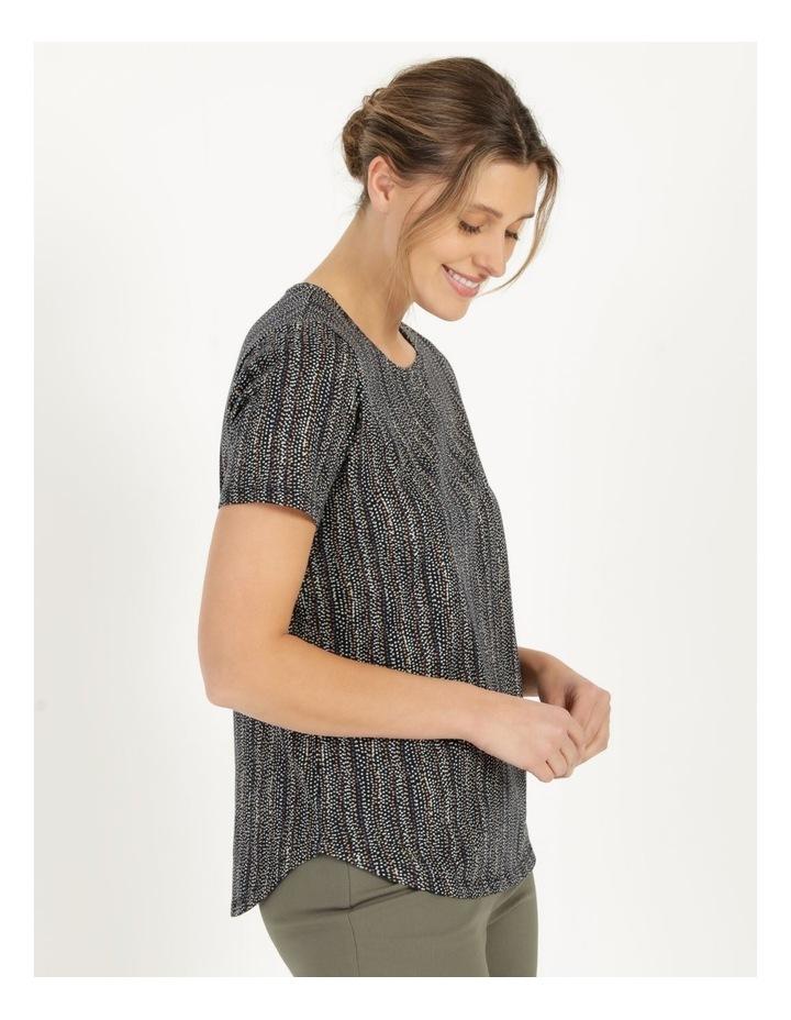 Wardrobe Staple Short Sleeve Tee Navy/Small Multi Spot image 4
