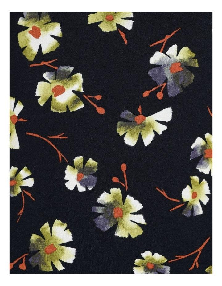 High Neck Short Sleeve Tee Navy/Avocado Floral image 7