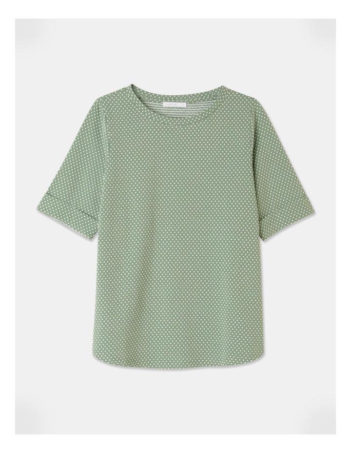 Short Sleeve Cuff Tee Green image 1