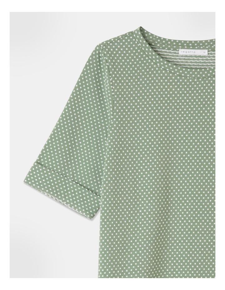 Short Sleeve Cuff Tee Green image 2