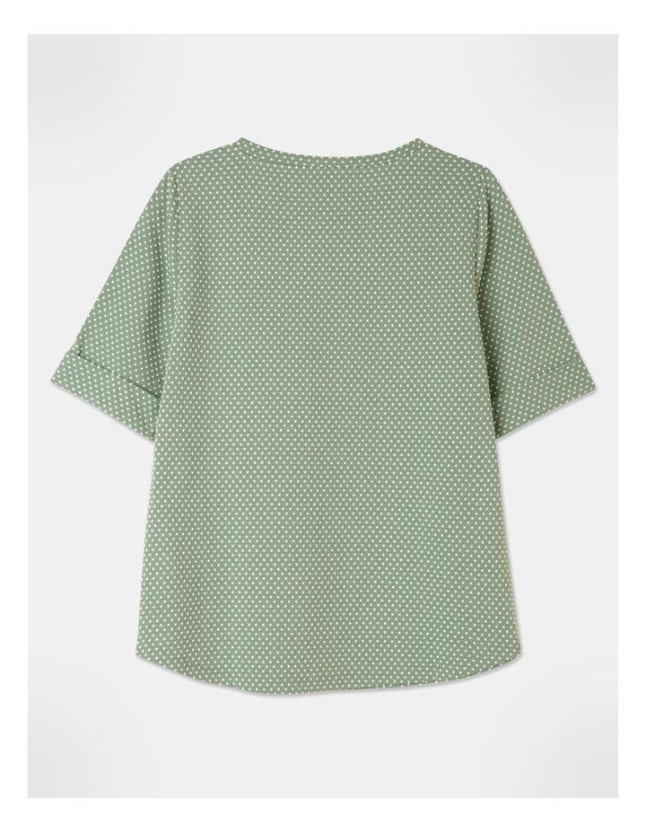 Short Sleeve Cuff Tee Green image 3