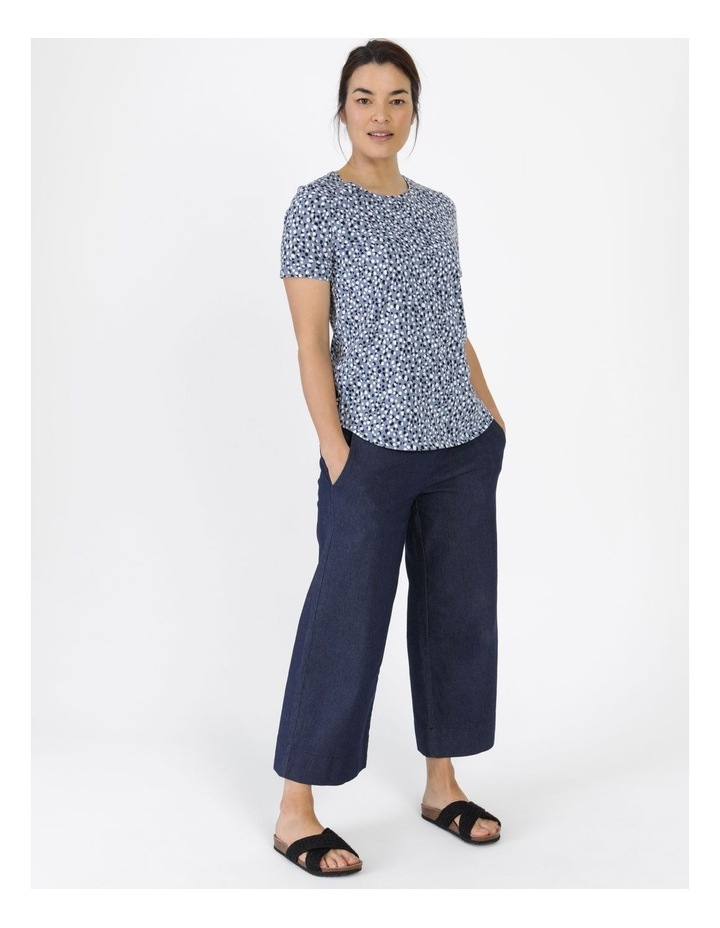 Wardrobe Staple Short Sleeve Tee Blue Pebble Spot image 4
