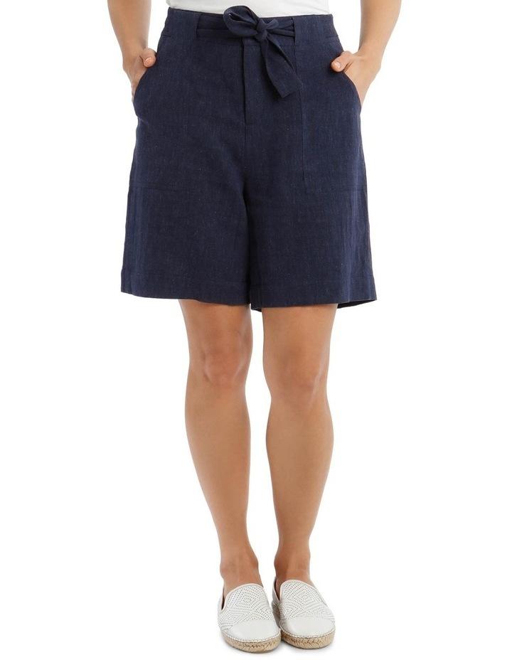 Tie Waist Patch Pocket Short image 1