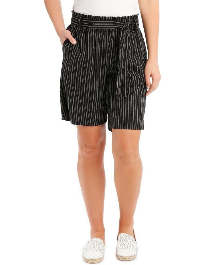 Paperbag-Tied Waist Shorts image 1