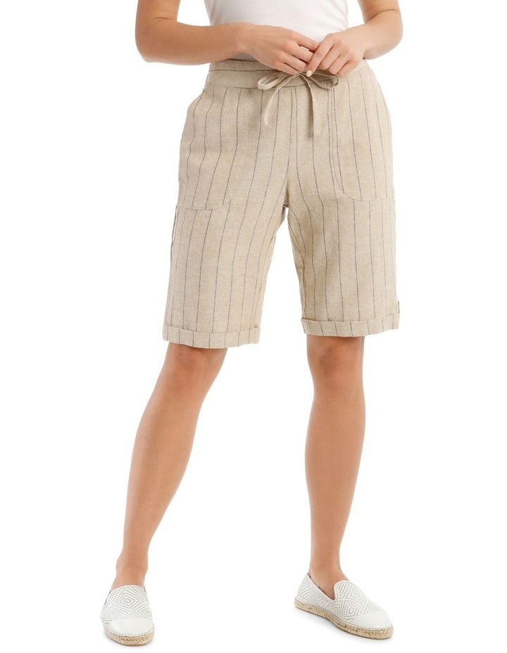 Tie-Waist Cuffed Shorts image 1