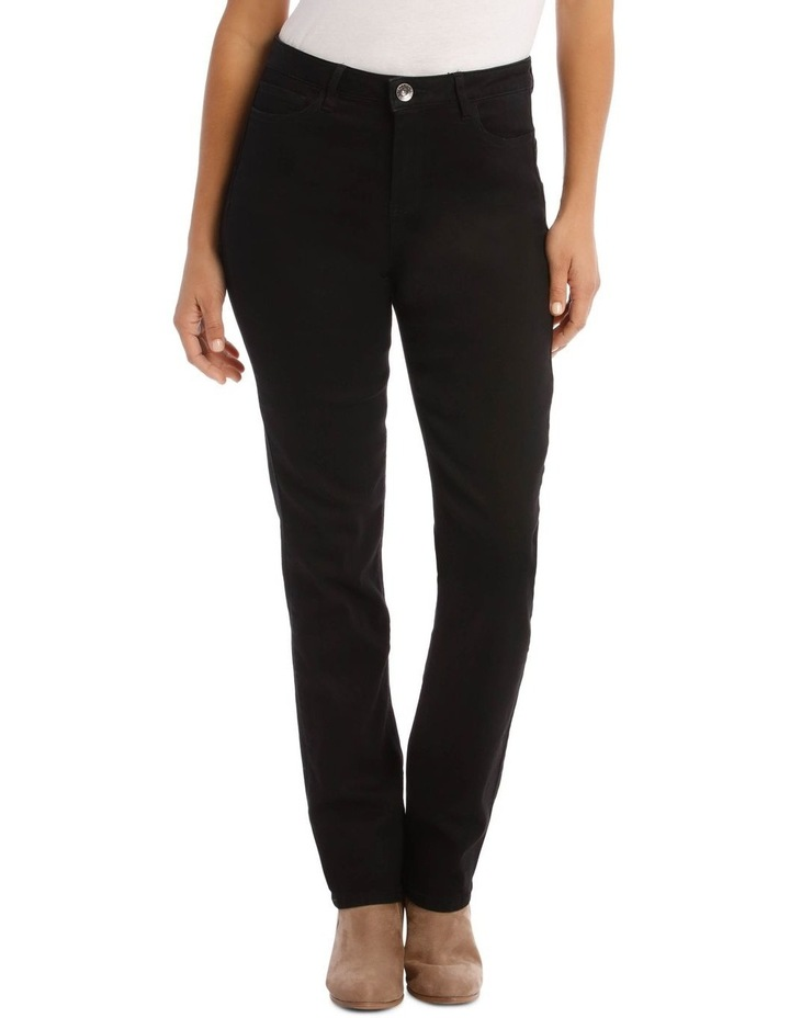 Essential Straight Full-Length Jean in Black image 1