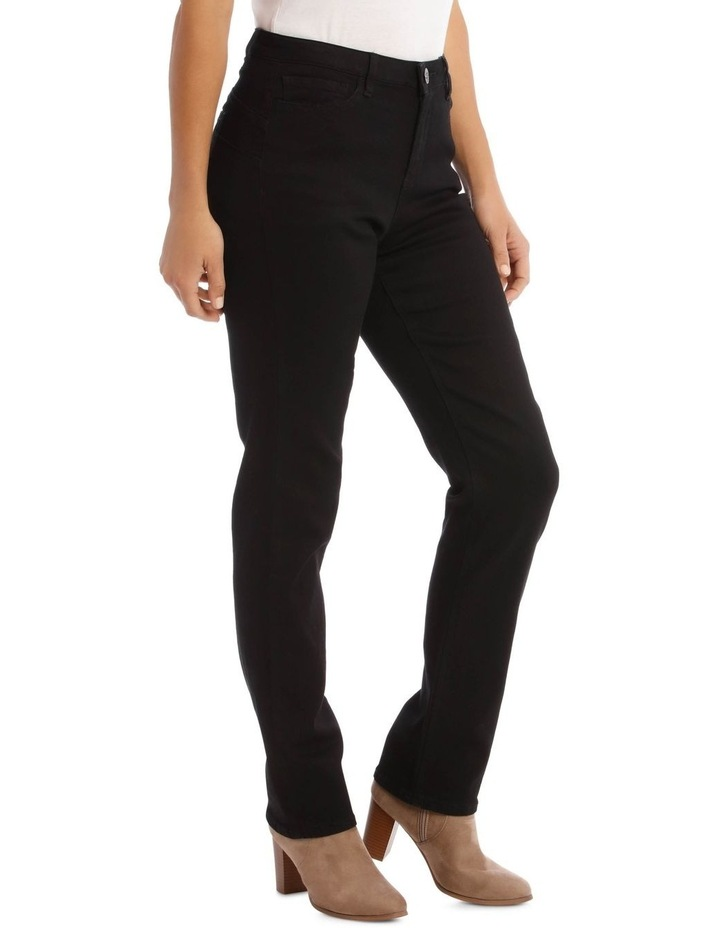 Essential Straight Full-Length Jean in Black image 2
