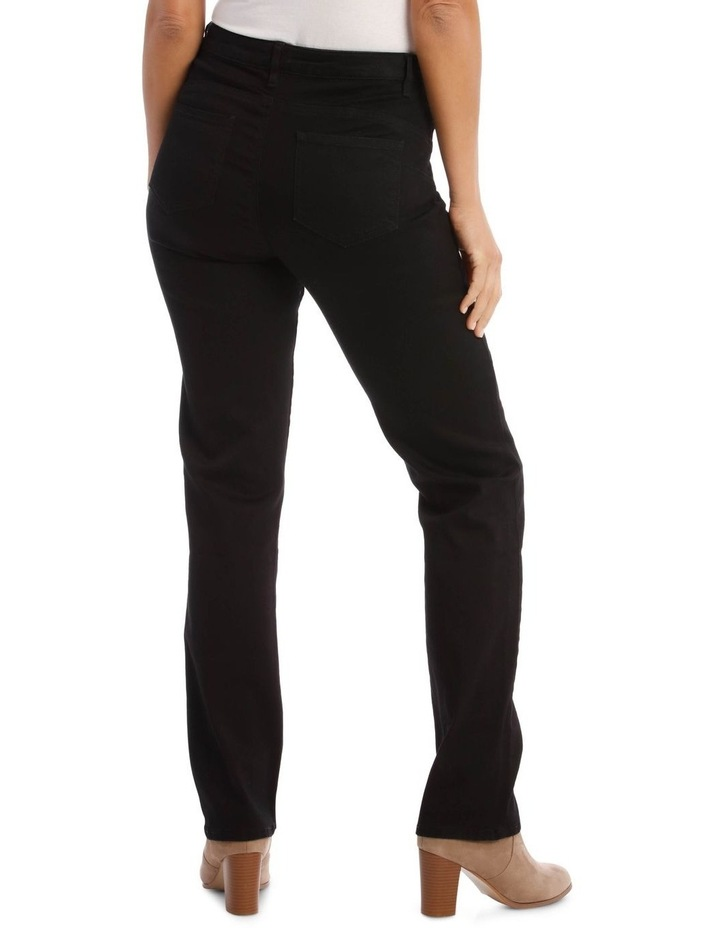 Essential Straight Full-Length Jean in Black image 3