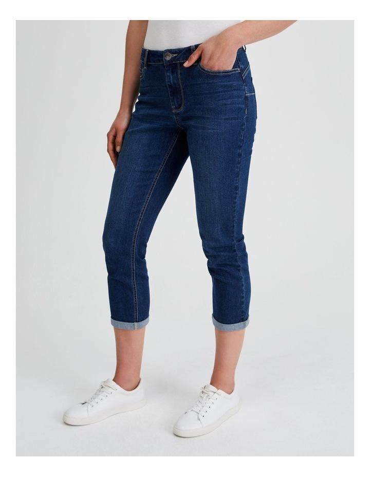 Essential Denim Crop Jean - Dark Wash image 2