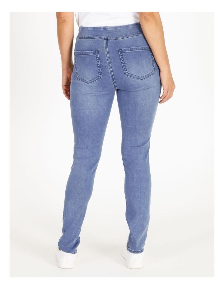 Wardrobe Staple Full Length Denim Jegging in Clear Blue image 3